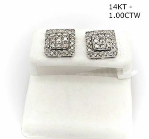 14kt Gold 1 Ct Square Diamond Ear Ring for Sale in Tucker, GA