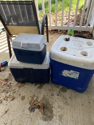 3 coolers for Sale in Virginia Beach, VA