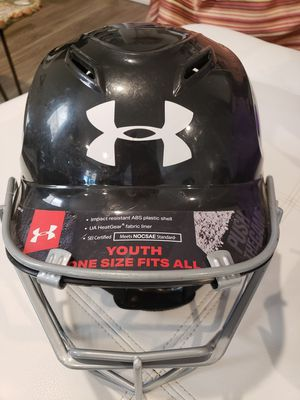 Youth Softball helmet, glove, & face guard for Sale in Sandy, OR