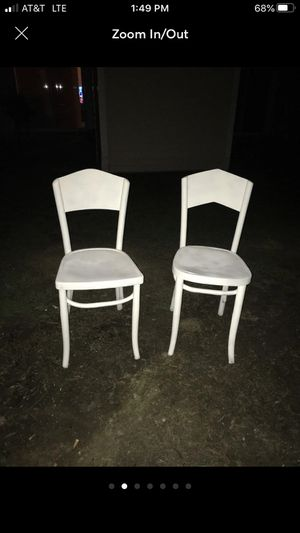 Two white wooden chairs for Sale in Alexandria, VA