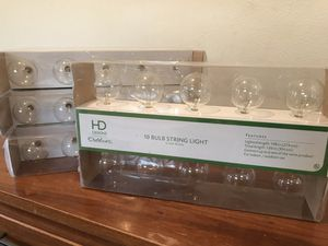 4 boxes of outdoor string lights for Sale in Bothell, WA