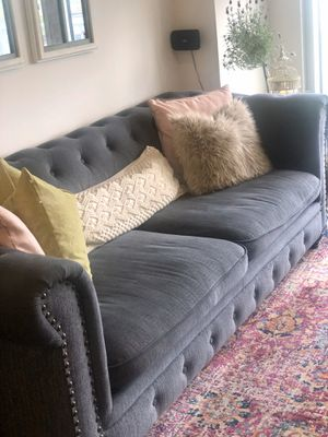 Grey high arm couch for Sale in Murfreesboro, TN