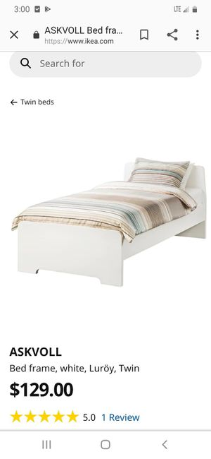 Bed frame, white, Luröy, Twin, i have two for Sale in Houston, TX