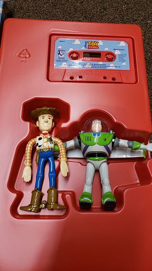 1995 Toy Story Read Along Play Pack Cassette Bendable Figures for Sale in Los Angeles, CA