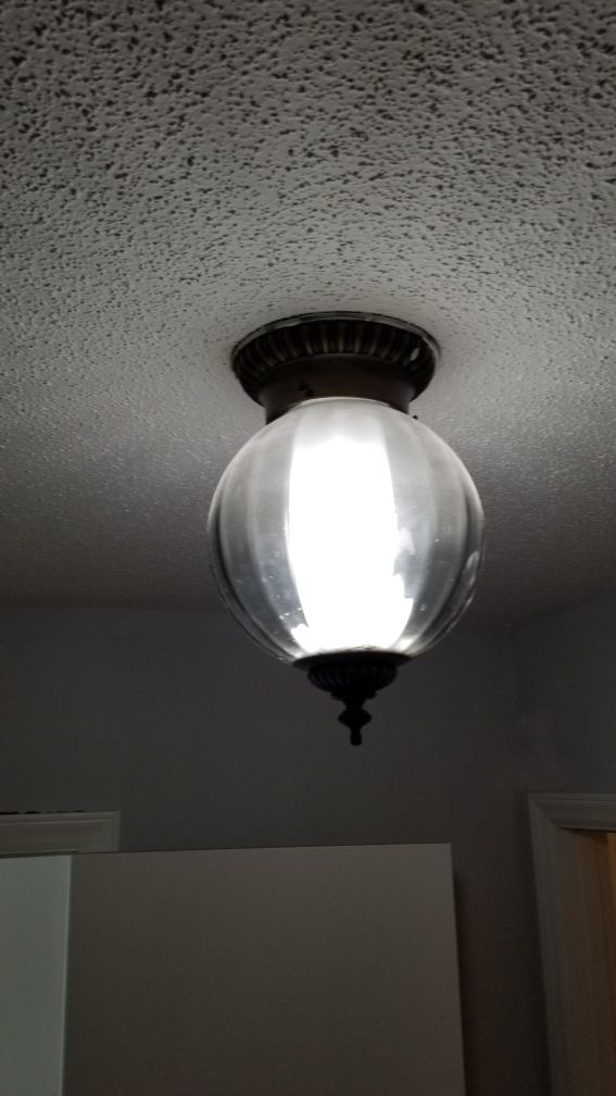 Vintage Flush Mount Ceiling Light.