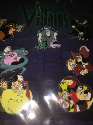 Disney Villain Pin set for Sale in Hudson, FL