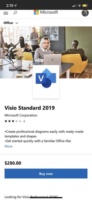 Office Visio Standard 2019 (PC only) for Sale in Seattle, WA