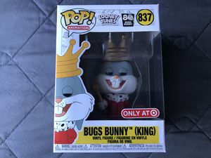 Funko Pop King Bugs bunny Looney Tunes Vinyl figure toy for Sale in Los Banos, CA