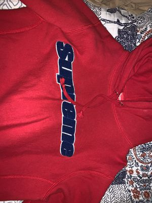 Red Supreme Chenille Hoodie for Sale in Sunrise, FL
