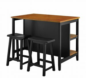 3 piece Kitchen Island dining table with 2 barstools for Sale in Salinas, CA
