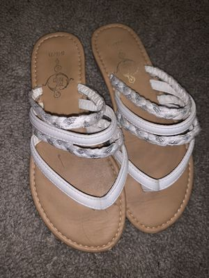 white sandals for Sale in Dallas, TX