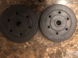 Two 10 lbs Weight Plates (Total of 20) for Sale in Kensington, MD