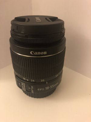 canon lenses efs 18-55mm with battery charger for Sale in Los Angeles, CA