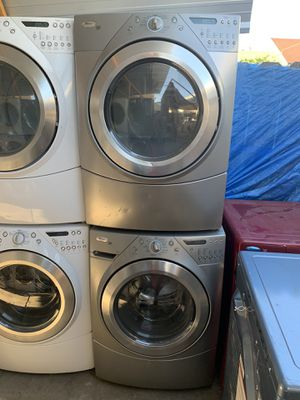 Washer and dryer Whirlpool Front Load gas dryer with 3 months warranty free Delivery installation<<<hablo español for Sale in Oakland, CA