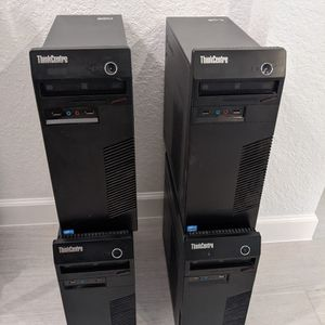 4x Lenovo Tower Computers (no hard drives) for Sale in Delray Beach, FL