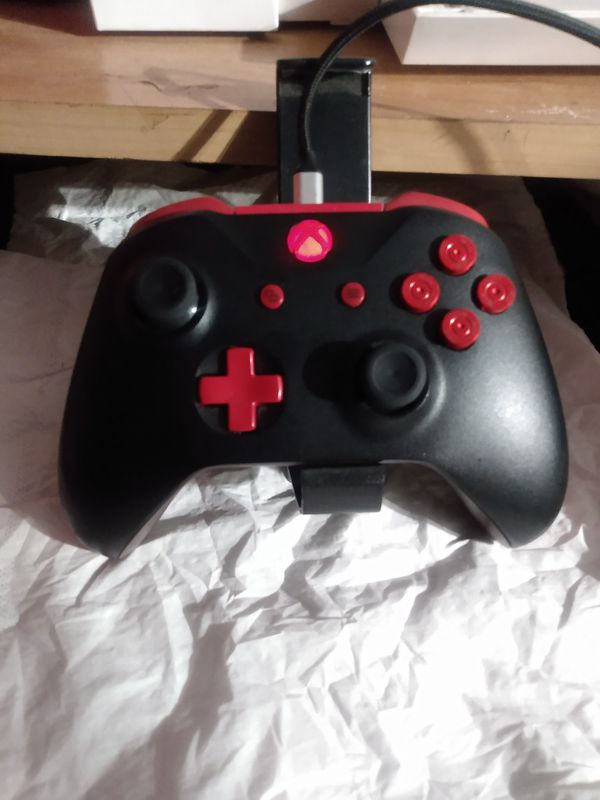 Xbox ones custom chrome red bullet buttons