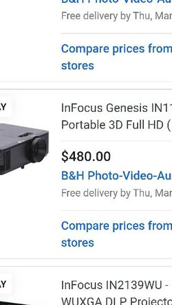 InFocus DLP Projector for Sale in Salt Lake City,  UT