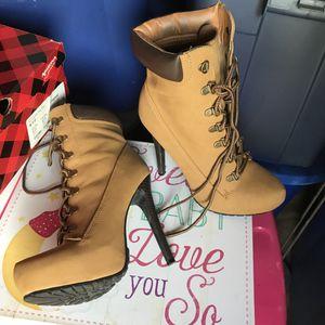 Light brown ankle boots heels for Sale in Mount Juliet, TN