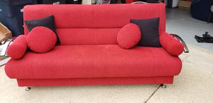 Red futon/ couch with storage underneath for Sale in Fort Washington, MD