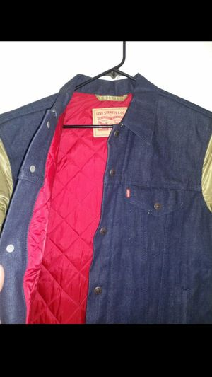 San Francisco 49ers Levi's Denim Varsity Button-Up Jacket - Blue for Sale in West Valley City, UT