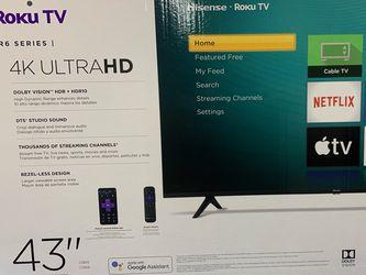"BRAND NEW HISENSE ROKU TV 43"" for Sale in Anaheim,  CA"