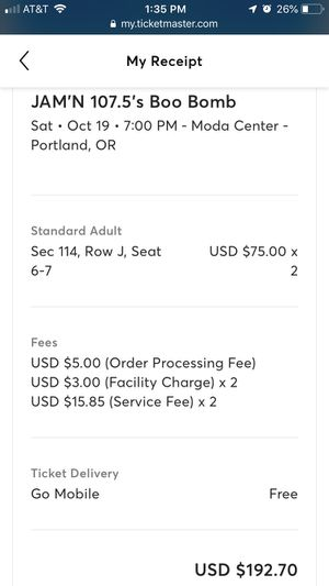 Boo Bomb Tickets for Sale in Gresham, OR
