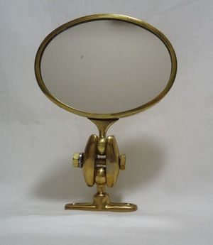 Desmo Mirror Oval Brass Antique Classic Car Exterior Door Mount VTG Steampunk for Sale in Fayetteville, NC