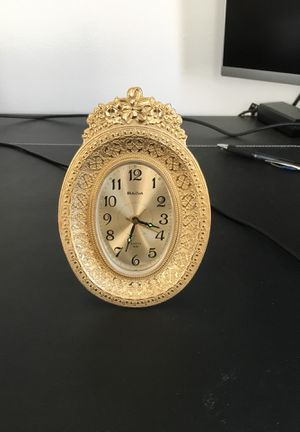 Gold Bulova Alarm Clock for Sale in Los Angeles, CA