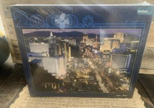 VEGAS BABY! Jigsaw Puzzle NEW 2000 PC / Buffalo Games ~ Las Vegas Strip at Night new factory sealed for Sale in Deltona, FL