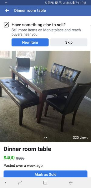 Marble kitchen table set for Sale in Marysville, CA