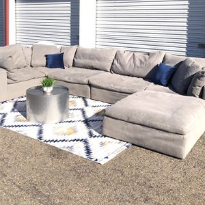 Grey Cloud sofa Modular sectional 6 pieces down filled for Sale in San Diego, CA