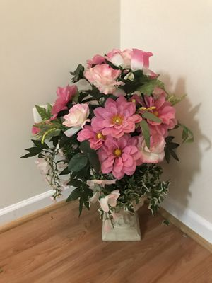 Artificial pink flowers plant for Sale in Ashburn, VA