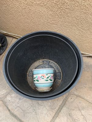 Flowers pots (3) for Sale in Chula Vista, CA