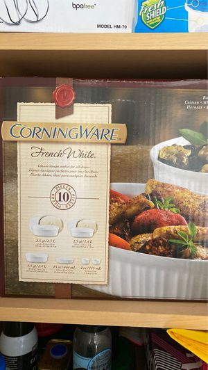 Corningware French White 10 Piece Oval Set for Sale in Aventura, FL