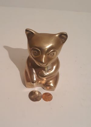 """Vintage Metal Brass Bear, 4 1/2"""" x 2 1/2"""", Home Decor, Table Decor, Shelf Display, This Can Be Shined Up Even More for Sale in Lakeside, CA"""