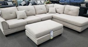 NEW Sectional Sofa with Chaise (reversible L/R) with Ottoman for Sale in Aliso Viejo, CA