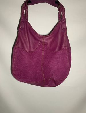 Lucky Brand Purple Floral Embossed Suede & Leather Hobo Bucket Shoulder Bag for Sale in Garden Grove, CA