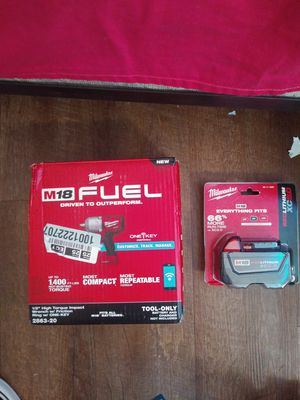 Milwaukee half inch high torque impact wrench with friction ring one key for Sale in Beaverton, OR