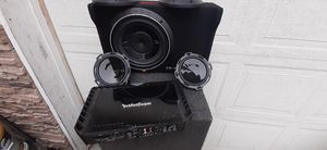 T400.4 amp RF set up 10in sub. P3SD4-10. RF T400-4 . P16-s 6in door speakers. Everything works great for Sale in Vancouver, WA