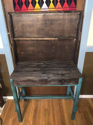 Solid wood rustic two-tone hutch/desk with large drawer for Sale in Anthony, NM