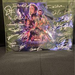 Avengers Endgame Poster Autographed for Sale in Brigantine,  NJ