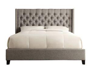 King size bed frame & headboard grey for Sale in Farmington Hills, MI