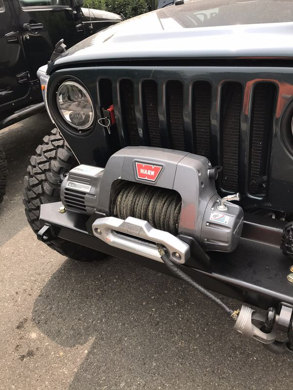 Warn 9.5 CTI winch with ORO x-line synthetic winch rope