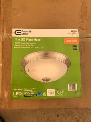 Commercial Electric 11in LED Flush Mount- brushed nickel for Sale in Vancouver, WA