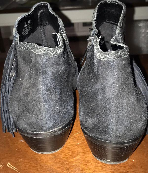 Sam Edelman Paige Fringe Ankle Booties 7.5WIDE