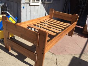 Solid wood twin bed frame very sturdy. for Sale in Fresno, CA