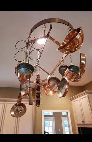 Copper Pot Rack (POTS NOT INCLUDED) for Sale in Katy, TX