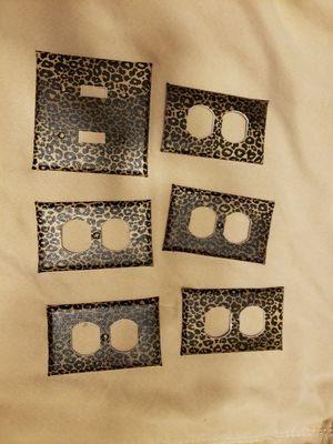 Leopard print outlet and light covers for Sale in Garner, NC