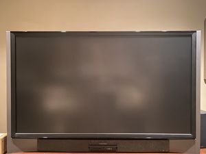 Mitsubishi 72'' rear proj.-Moving Sale-Stand/Reciever/spkrs/SubW.-Complete Setup!-extra lamp for tv included! for Sale in Apex, NC