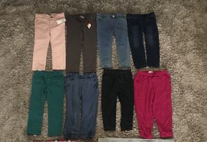 NEW AND GENTLY USED❗️3T TODDLER BABY GIRL PANT LOT - BABY GAP,CARTERS, GYMBOREE AND MORE for Sale in Houston, TX